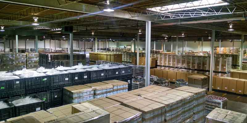 View of a warehouse facility in Flower Mound TX